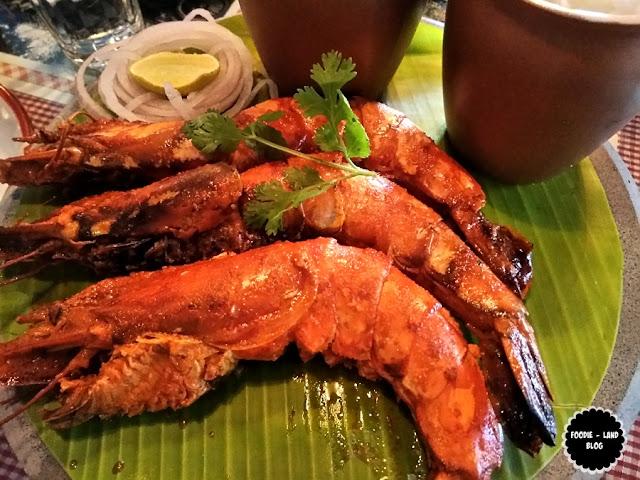 Parsi Style Grilled prawns @ SodaBottleOpenerWala | Lavelle Road | Bangalore