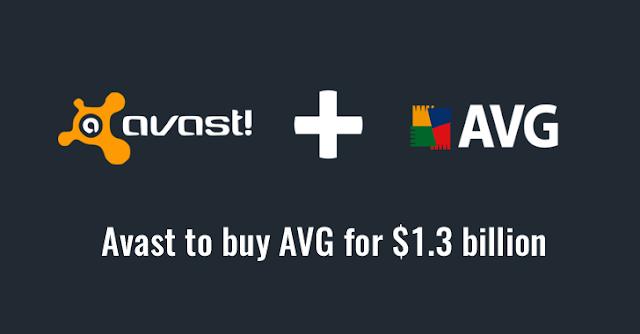 Avast Obtain AVG for $1.3 Billion 1