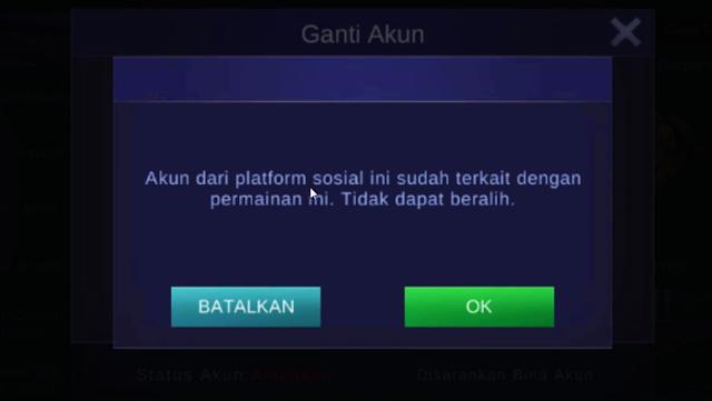 Solusi Akun dari Platform Sosial ini Tidak Terkait dengan Game