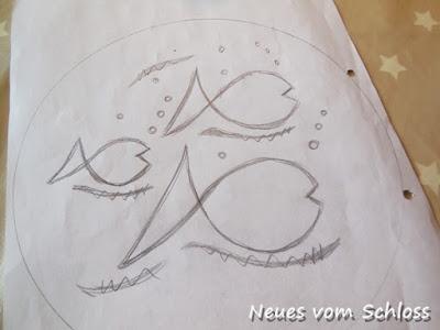 Siebdruck auf Stoff, mail-art-Frühling, upcycling, Creadienstag- neuesvomschloss.blogspot.de