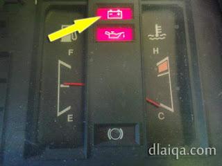 indikator lampu chg menyala