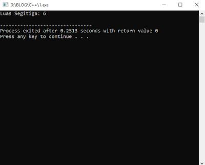 Hasil Inputan Statis Bahasa C++