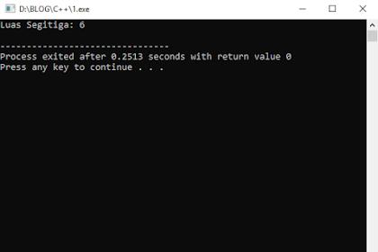 Inputan Statis Menghitung Luas Segitiga Pada Bahasa C++