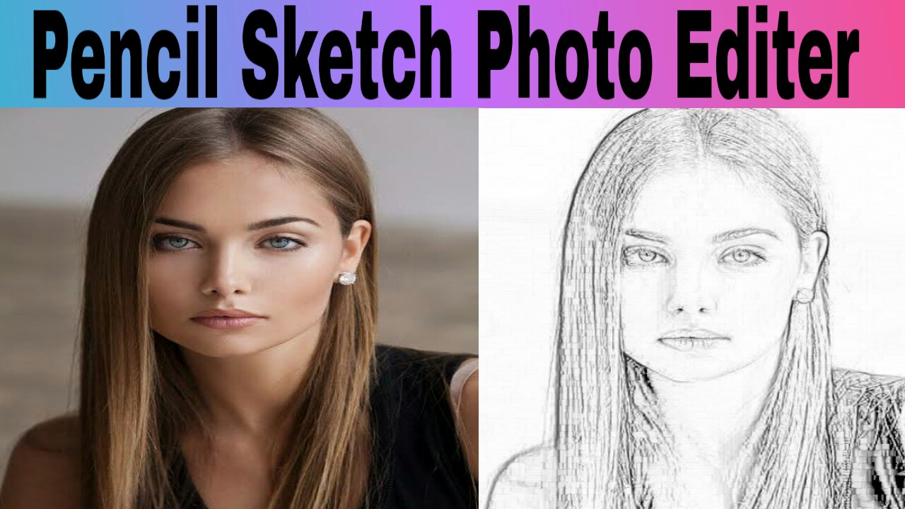 Use this great pencil sketch editor pencil drawing to convert your photo into art work