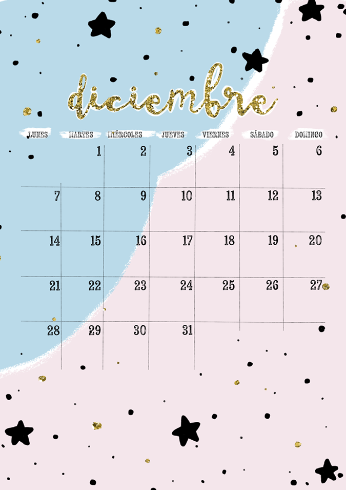 Milowcostblog calendario diciembre imprimible y fondo for Fondo de pantalla calendario 2018