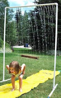 parque de agua DIY ducha para jardin con tubos de PVC y manguera