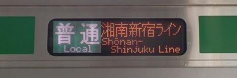 湘南新宿ライン 普通 大崎行き2 E233系(2018年 渋谷駅高架化工事に伴う運行)