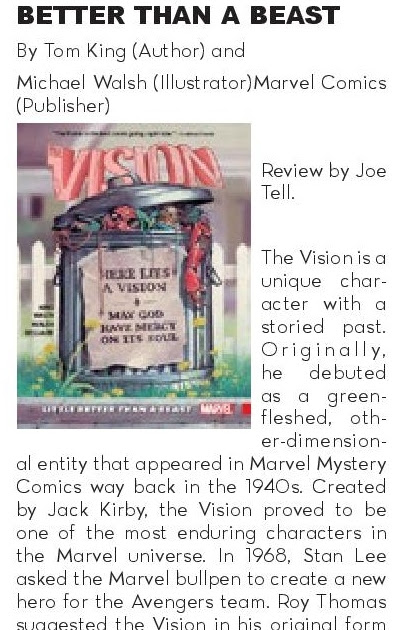 The Vision, Vol. 2: Little Better Than A Beast graphic novel review