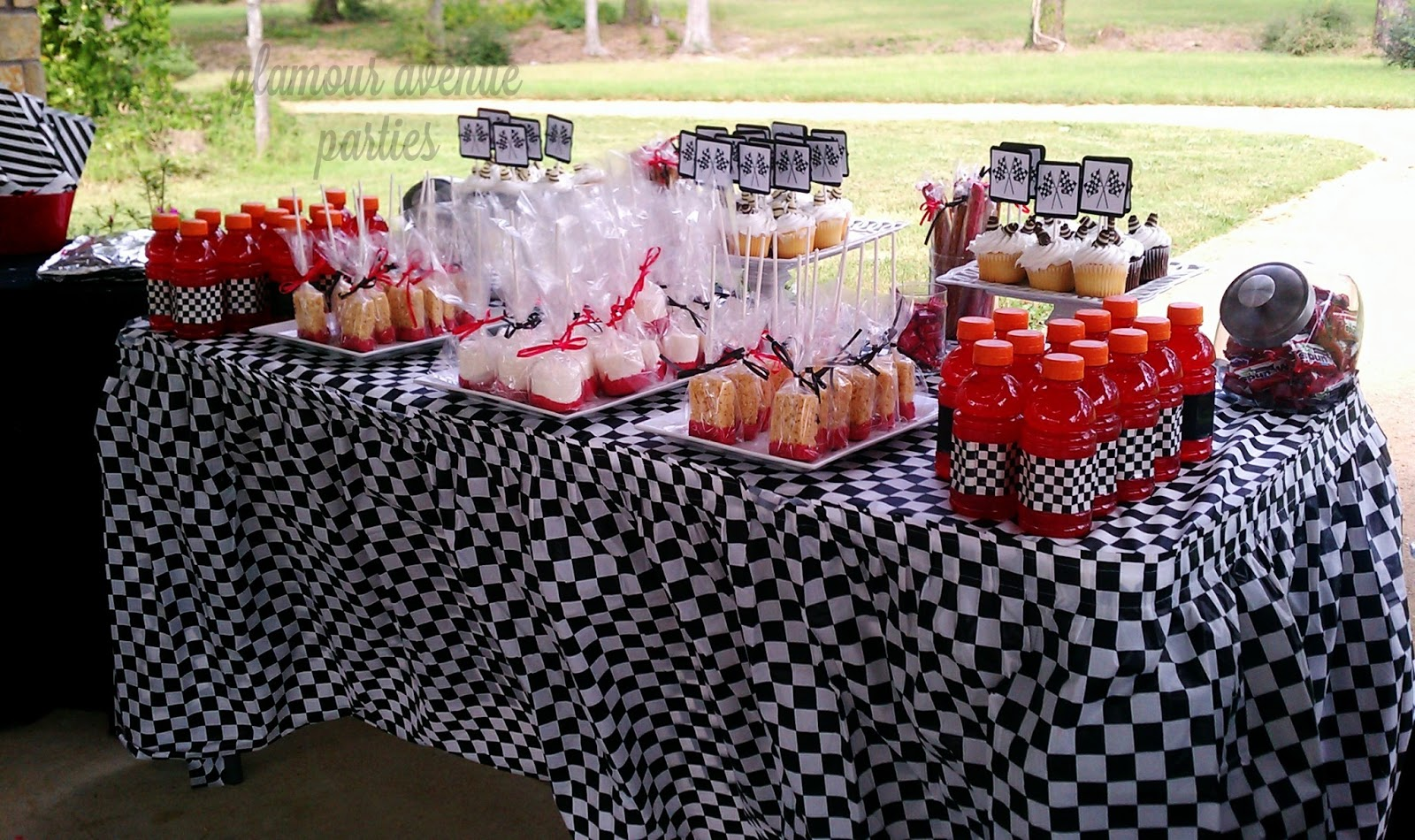 Race Car Birthday Party: Glamour Avenue Parties The Blog.: Custom Race Car Party I