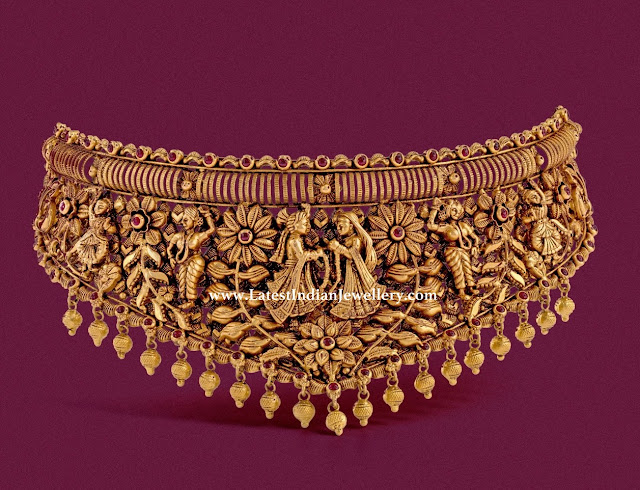 Bridal Themed Gold Choker