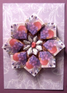 Hand Made card from Paper Facets site
