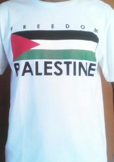 Jual kaos palestina desain bendera
