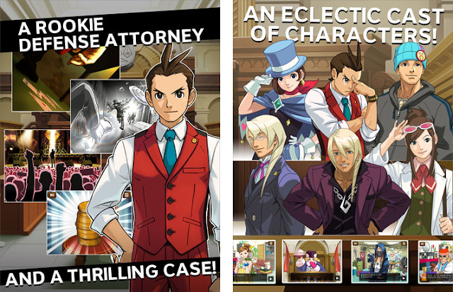 Apollo Justice Ace Attorney Apple iTunes images a rookie defense attorney an eclectric cast of characters