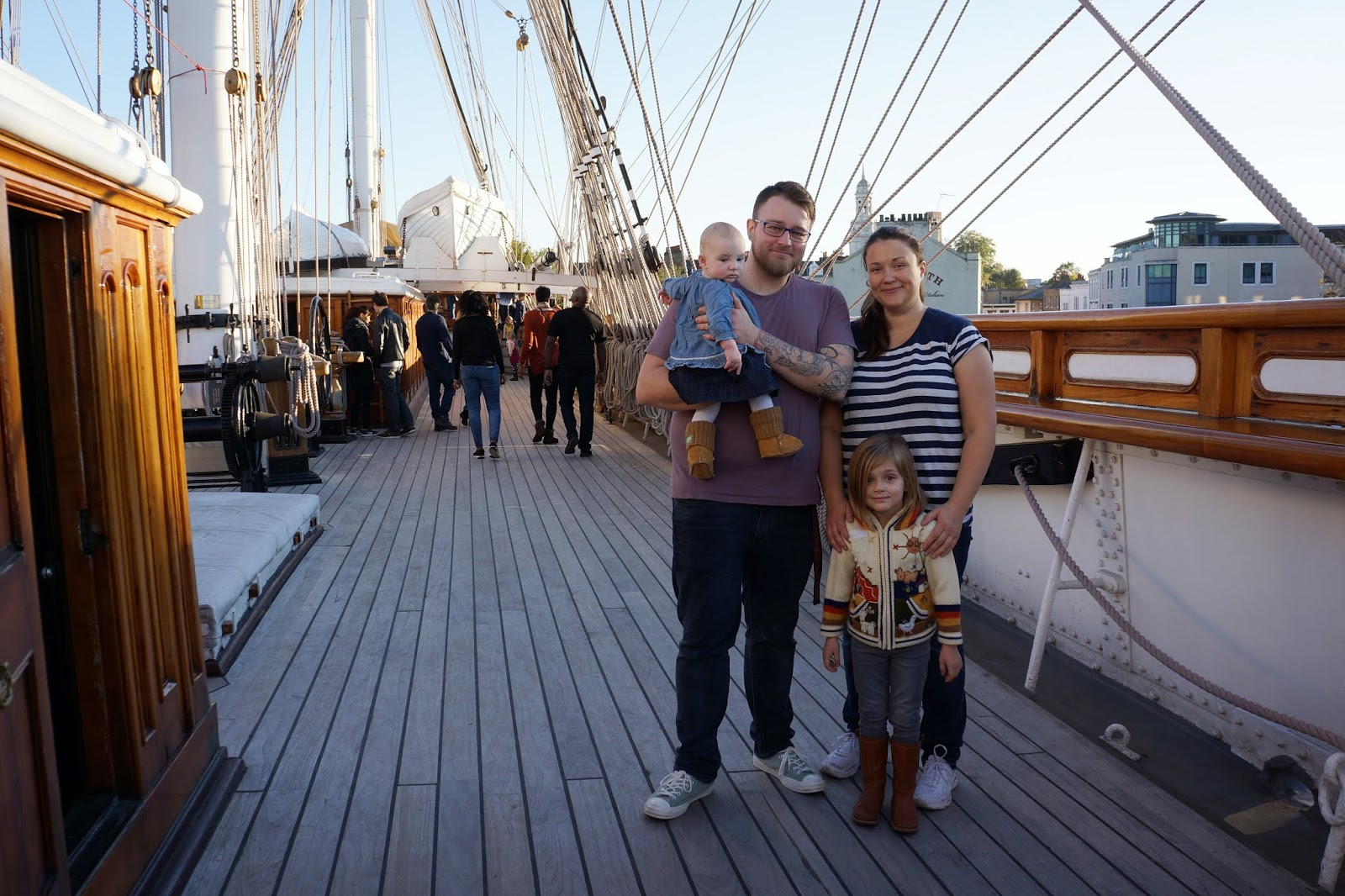 family on cutty sark