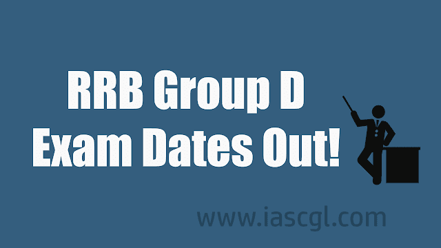 Railway RRB Group D 2018 Exam Date