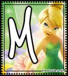 Bello Abecedario de Campanilla. Tinker Bell Letters.