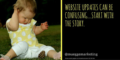 Website redesign tip #1: Start with the story