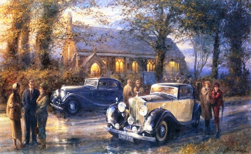 Vintage Race Car Paintings