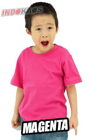 Kaos Polos Anak Magenta