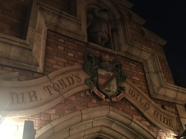 Mr. Toad's Wild Ride Entrance at Night Disneyland