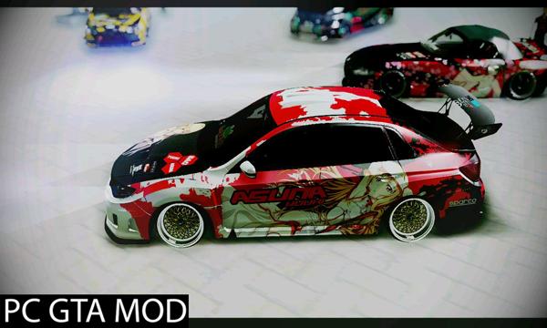 Free Download  Subaru Impreza STI 2010 [Itasha Asuna (SAO)]  Mod for GTA San Andreas.