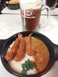 Japanese Cury Premium Mixbowls with Shrimp & RB + Ice Cream