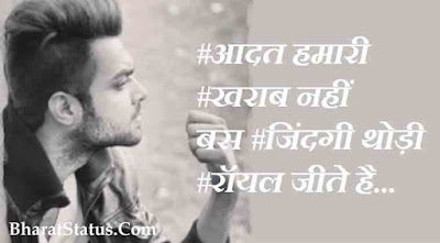 Nawabi Royal status with attitude in hindi