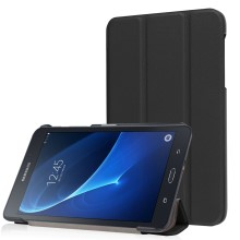 Tri-fold Leather Case Cover for Samsung Galaxy Tab A 7.0 T280 T285 - Black