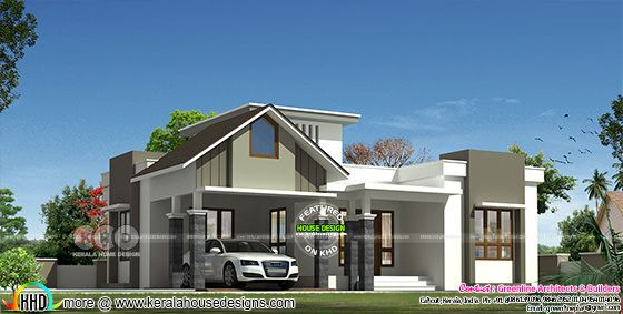 1398 square feet 3 bedroom modern single floor house