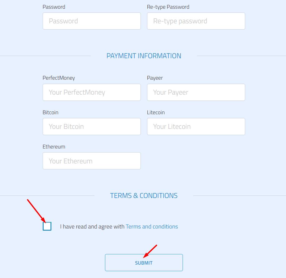 Регистрация в Bitonex 2