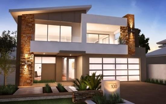 Gambar Desain Rumah Tingkat Minimalis 2 Lantai Modern ...