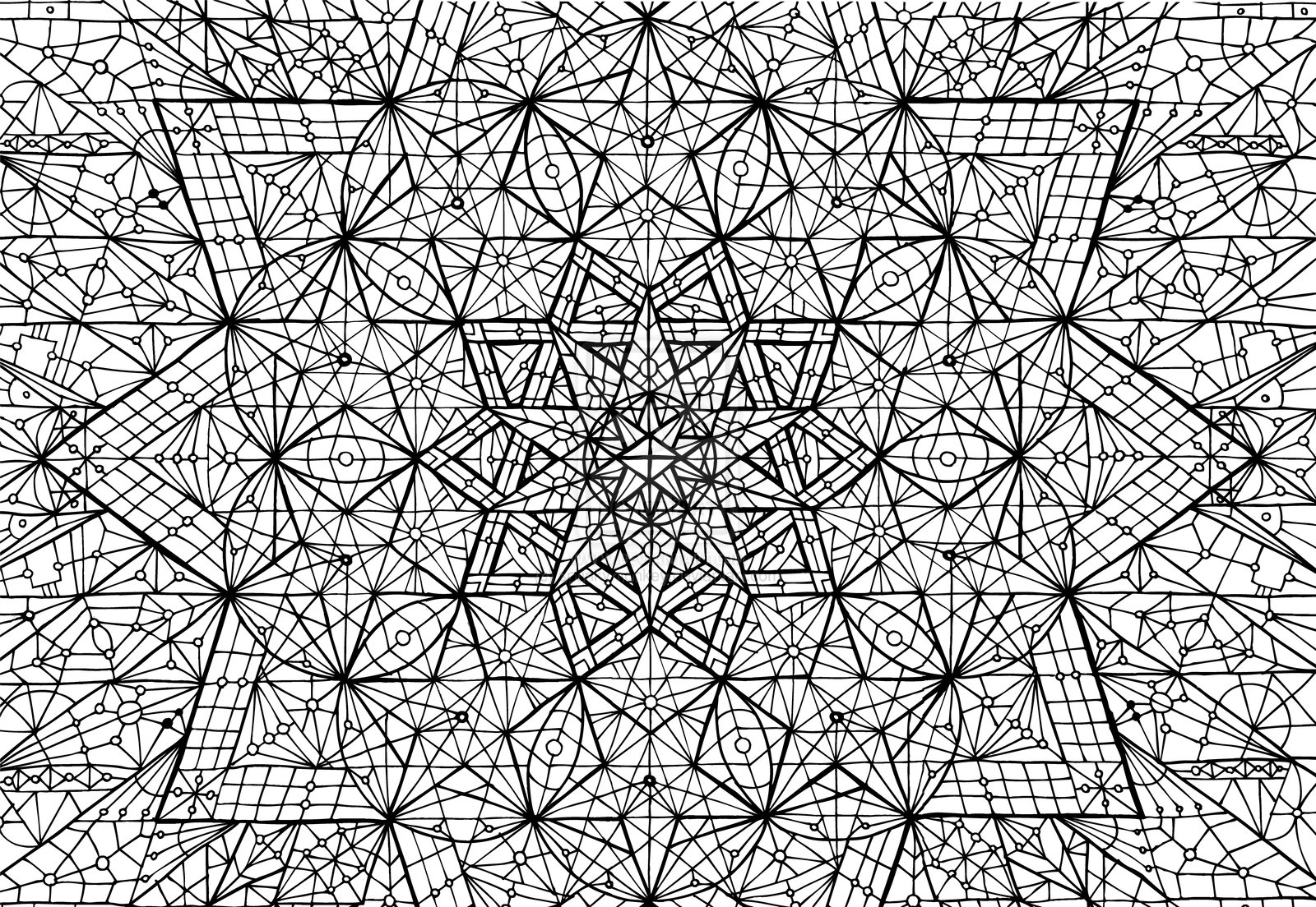 Mandala madness an amazing mandala to color for Geometric mandala coloring pages