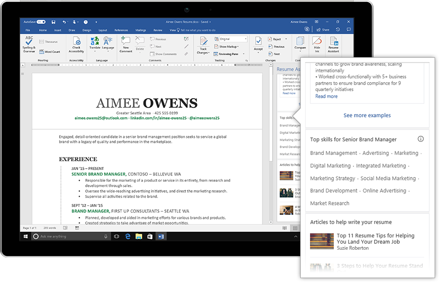 Microsoft Adds AI-powered LinkedIn Resume Assistant To Word