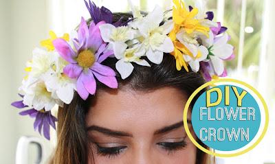 DIY flower crown | Created by Sahily anais | Makeup & fashion blogger