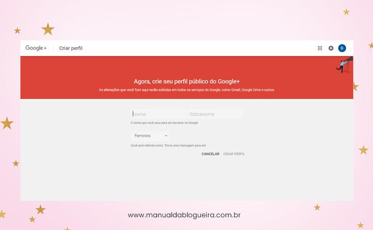 Criar um blog passo a passo no Google