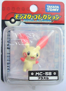 Plusle figure Tomy Monster Collection MCseries