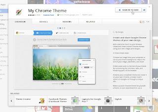 Tema mea Chrome instalare