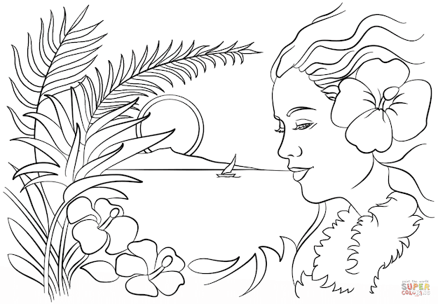 Click The Beautiful Hawaii Coloring Pages