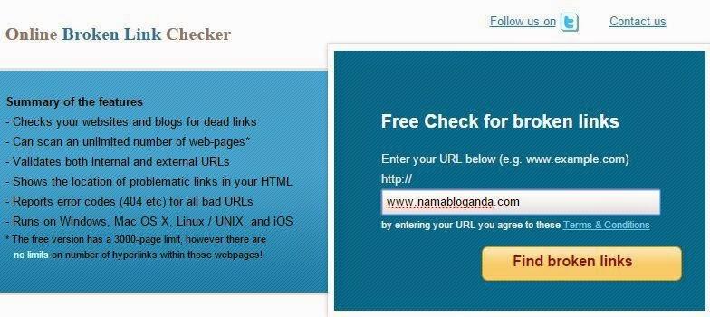 Cara Cek Broken Link Blog dengan Mudah