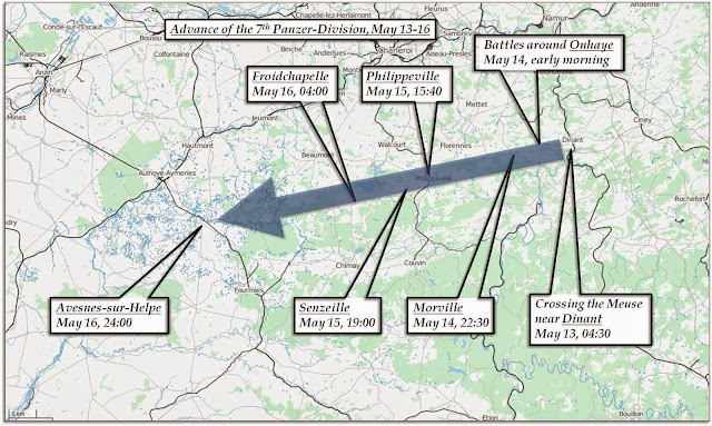 Advance of the 7th Panzer-Division, May 13-16