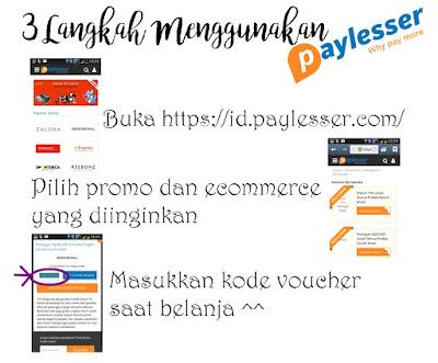 Cara menggunakan Paylesser Indonesia