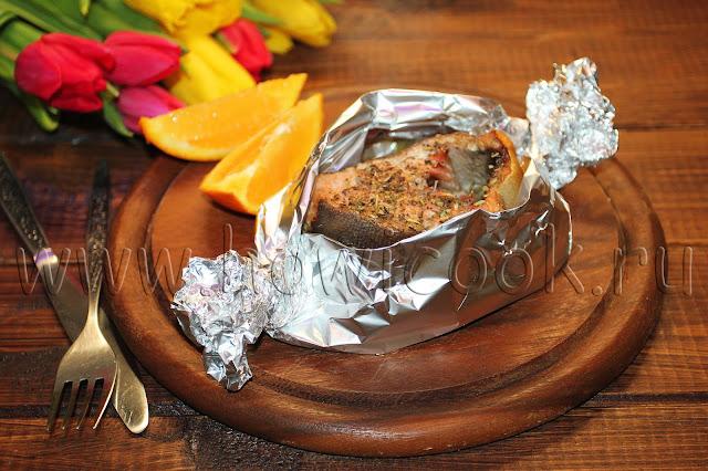 рецепт горбуши с овощами в фольге