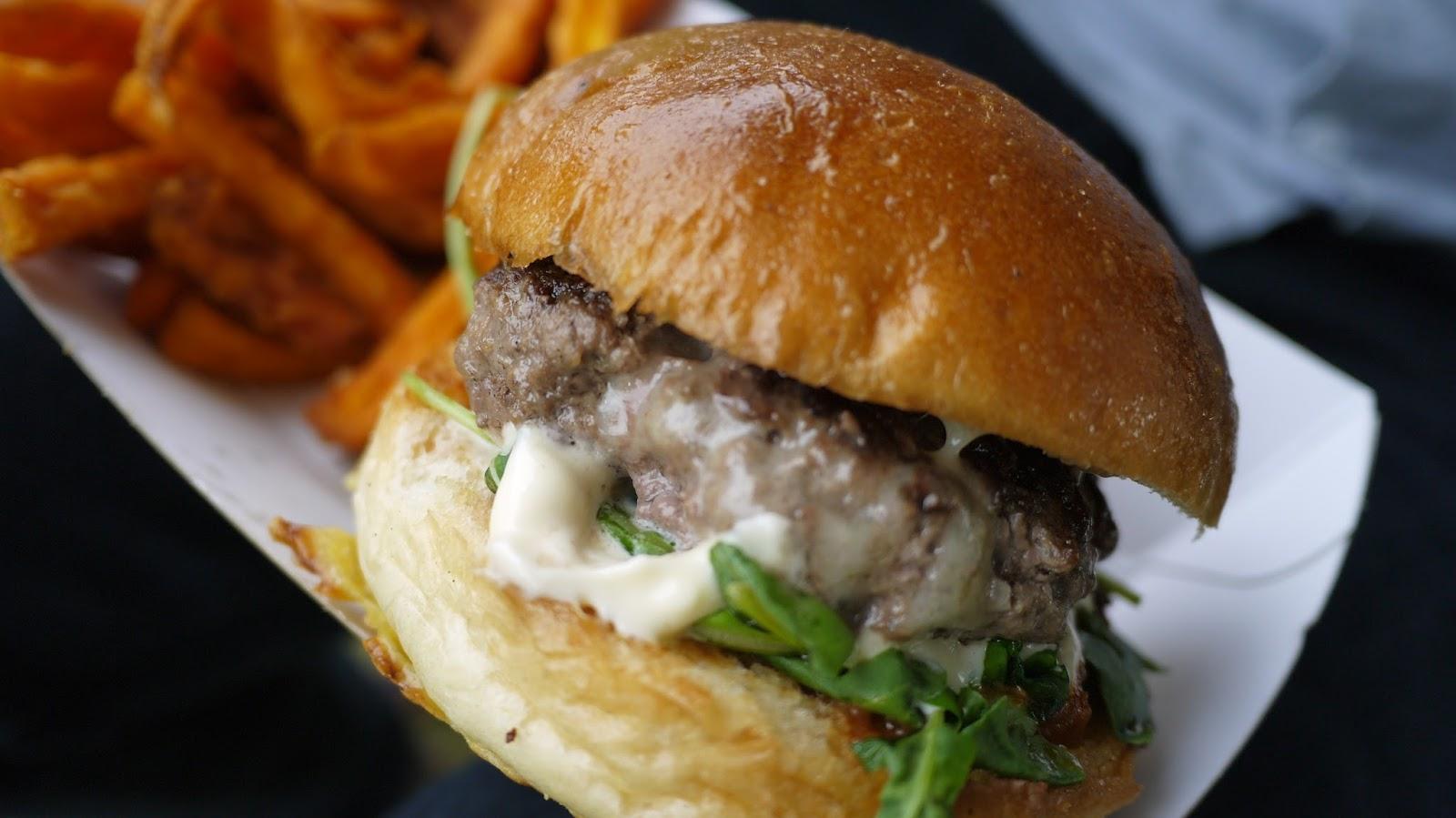 Venison burger at Hampton Court Palace Festival
