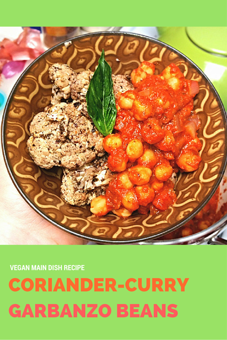 Mommy blog expert coriander curry garbanzo beans recipe for Vegan main dish recipes