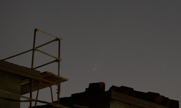 Comet NEOWISE as seen from my backyard in Pomona, California...on July 20, 2020.