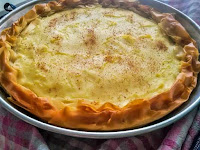 Παραδοσιακή γαλατόπιτα με φύλλο κρούστας - by https://syntages-faghtwn.blogspot.gr