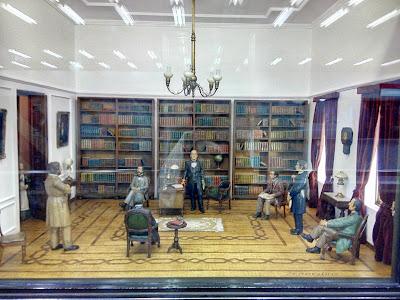 Diorama de la fundación de la Universidad de Chile por Andrés Bello, en metro Univerisdad de Chile de Santiago de Chile