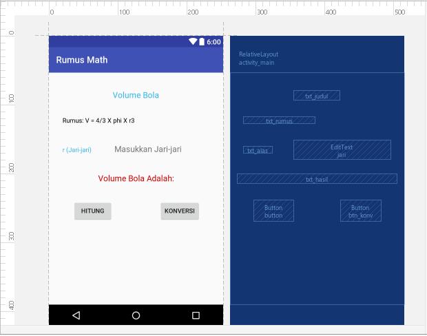 Cara Membuat Aplikasi Volume Bola dan Konversi Bilangan Menggunakan Intent pada Android Studio