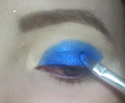 Aplicação da sombra azul