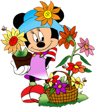 Minnie mouse y la primavera